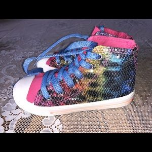 New Avon Rainbow Sequin High Top Shoes Size 11